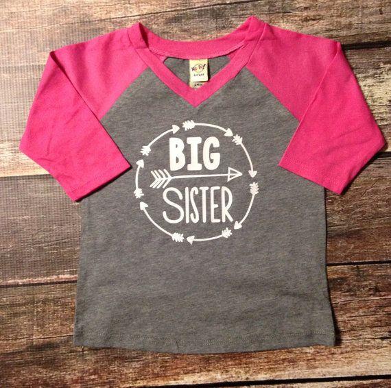 Big sister shirt little sister shirt custom shirt sibling for Big sister birth announcement shirts