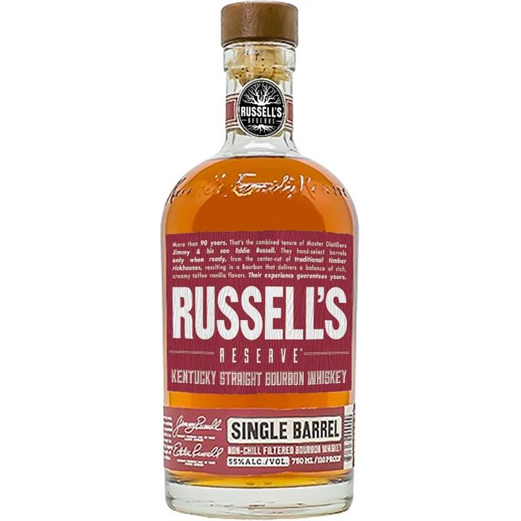 Matured in heavily charred casks under the intense Kentucky sun, this single-cask bourbon is made by a master distiller with over 50 years of distilling experience. Russell's Reserve Small Batch Single Barrel Bourbon | @Caskers