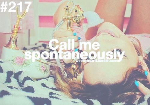 Win My Heart, call me <3 love random phone calls!