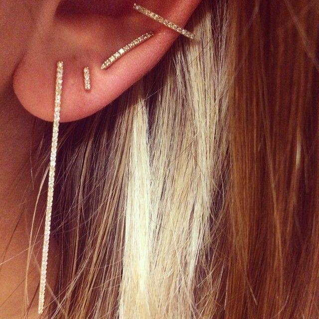 Zoe Chicco Triangle Ear Cuff Hirotaka Ear Pin Liven