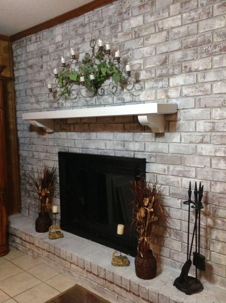 how to how to whitewash stone fireplace : Best 25+ Whitewashed brick ideas only on Pinterest | Whitewash ...