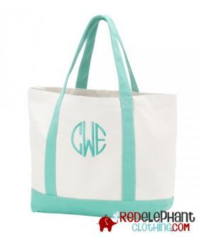 Monogram Tote Bag - Mint