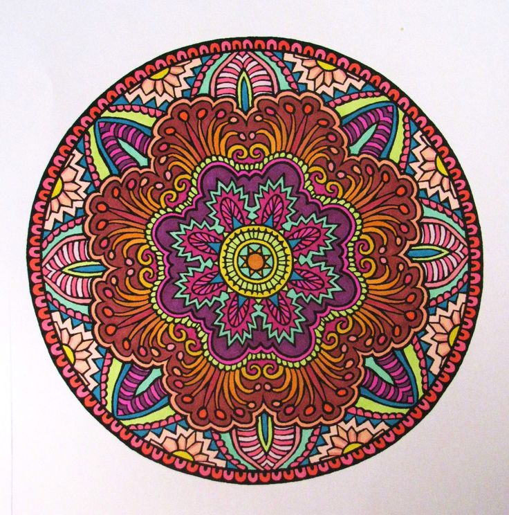 Mystic Mandala coloring book, from Dover.