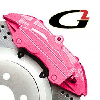 Pink brake caliper paint