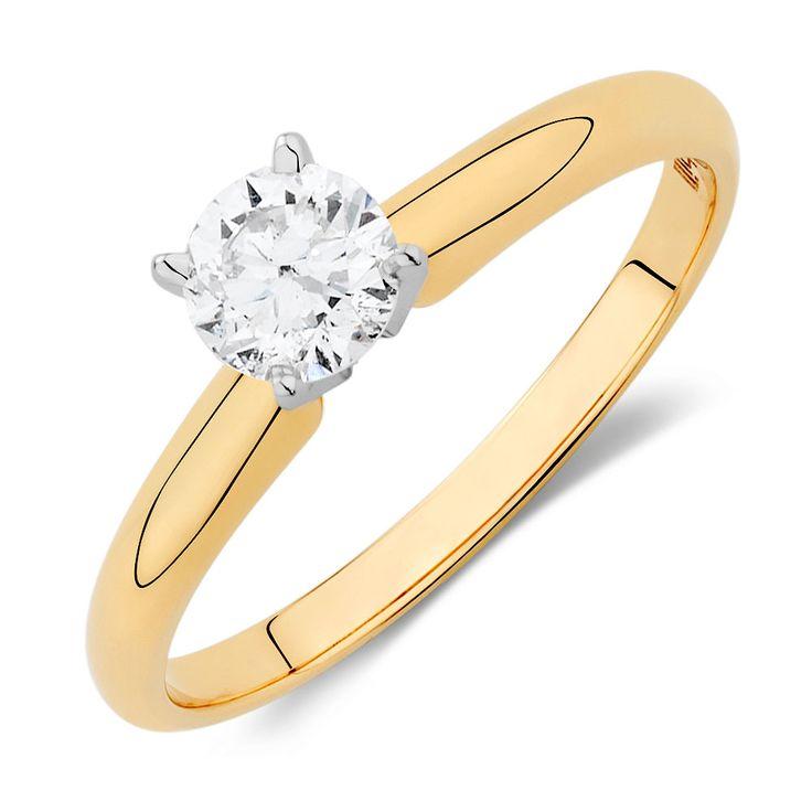 1/2 Carat Diamond Solitaire Ring