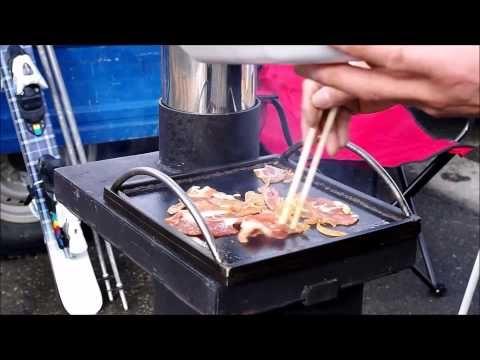 【第9弾】ロケットストーブ ロケットキッチン クックくん『スキー場で焼肉』 - YouTube