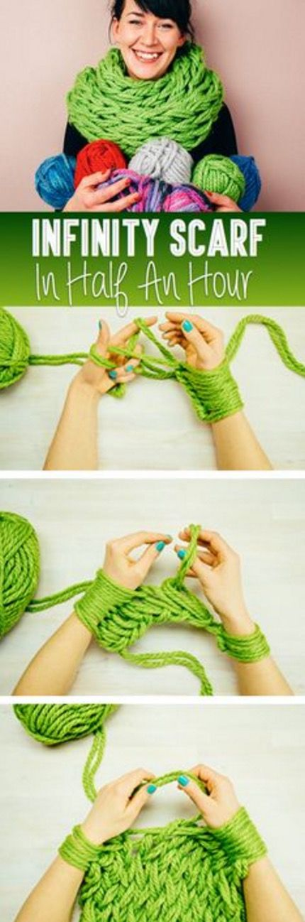 Arm Knit Scarf Step By Step Video Tutorial | The WHOot