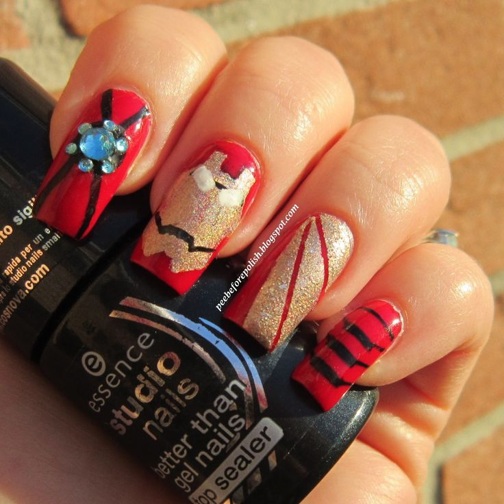 The Avengers Nail Art Series #1: IRON MAN