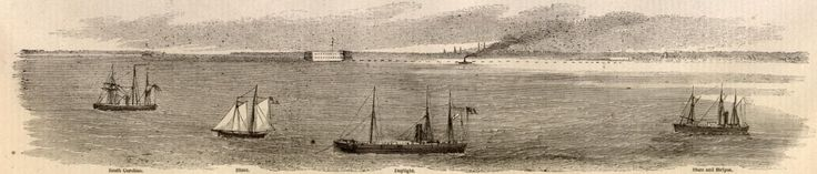 Union forces started a blockade of Southern ports in order to stop the exporting of cotton and prevent the imports of materials to help the South. The idea  of blockading was formed after the attack on Fort Sumter. This was all a small part of the Anaconda Plan.