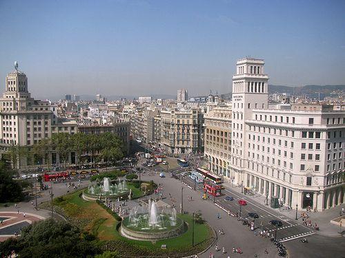 Placa de Catalunya as seen from the top of the El Corte Ingles.   Экскурсии Каталония ! Отдых Барселона ! Экскурсия в Барселоне #Испания #Барселона http://vipgid.wordpress.com/