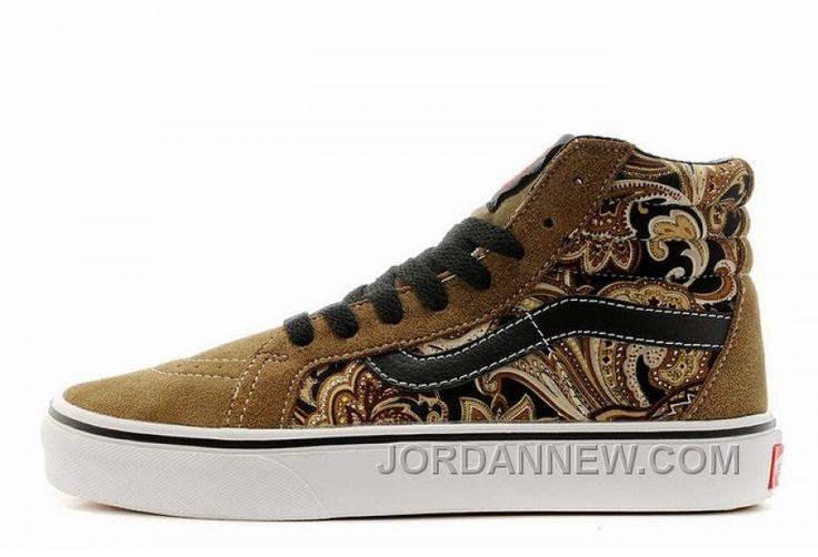 http://www.jordannew.com/vans-sk8hi-retro-floral-brown-mens-shoes-authentic.html VANS SK8-HI RETRO FLORAL BROWN MENS SHOES AUTHENTIC Only 70.85€ , Free Shipping!