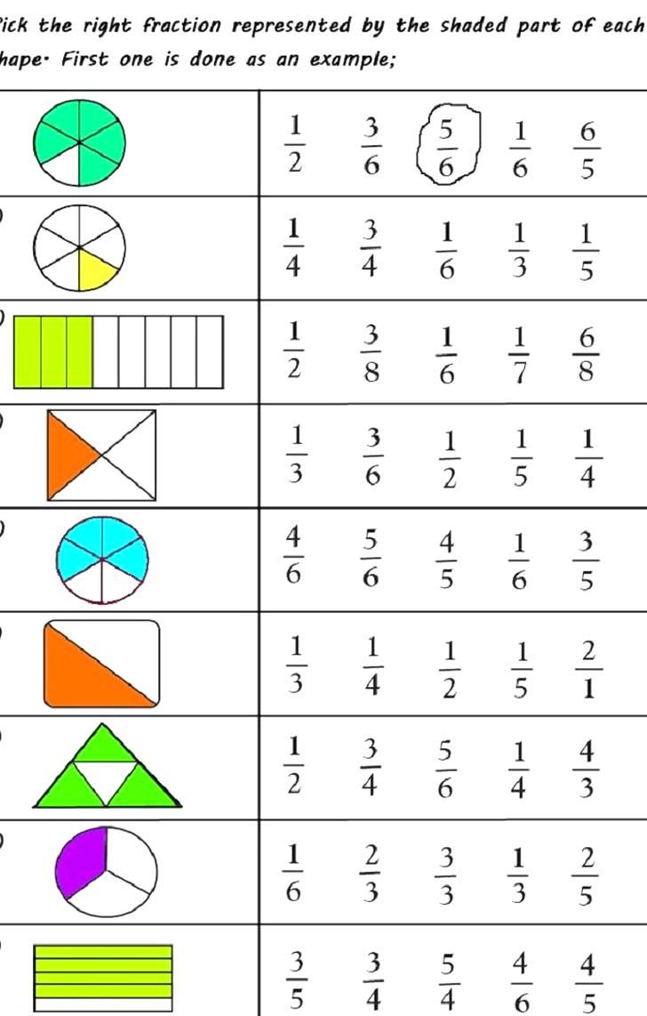 Free Printable Fractions Worksheets For 2019 Educative Printable In 2020 Fractions Worksheets Math For Kids 1st Grade Math