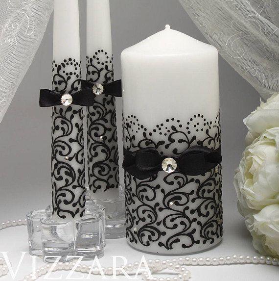 Candlelight Wedding Ceremony: Wedding Candles Black Ceremony Wedding Unity Candles Black