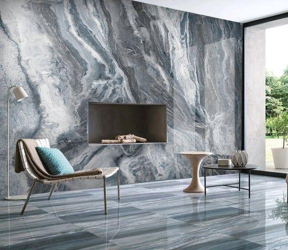 Marble 3d Photo Vinyl Wallpaper Self Adhesive Peel And Stick Etsy In 2021 Vinyl Wallpaper Blue Marble Wallpaper Wallpaper Living Room