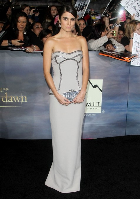Nikki Reed in Versace.   The Twilight Saga: Breaking Dawn -Part 2 Premieres in LA