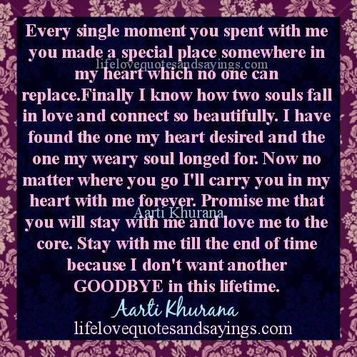 Love Each Other When Two Souls: Every Single Moment You Spent With Me You Made A Special