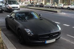 Mat Siyah Mercedes-BENZ SLS AMG!