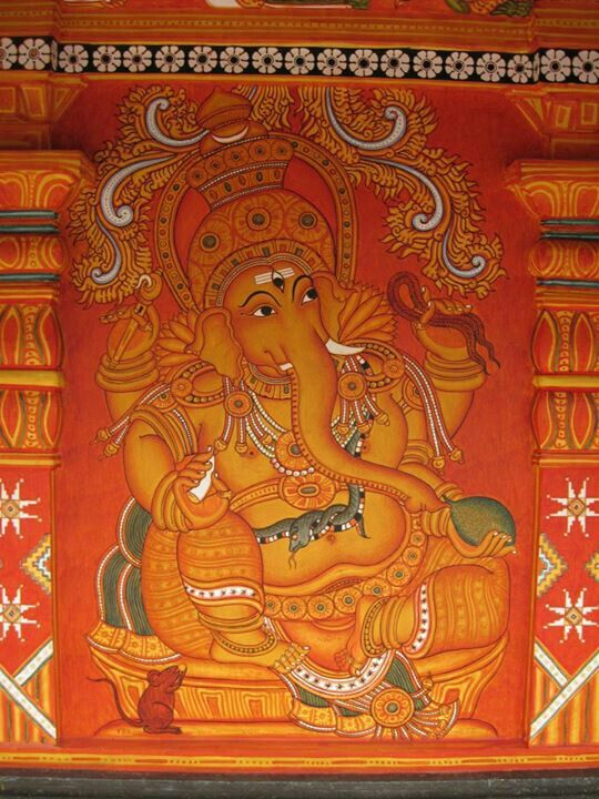 Mural painting thrissur kerala india klairvoyant for Arts and crafts mural