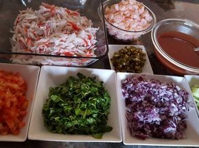 Fabulosa receta para Ceviche de jaiba con camarones.