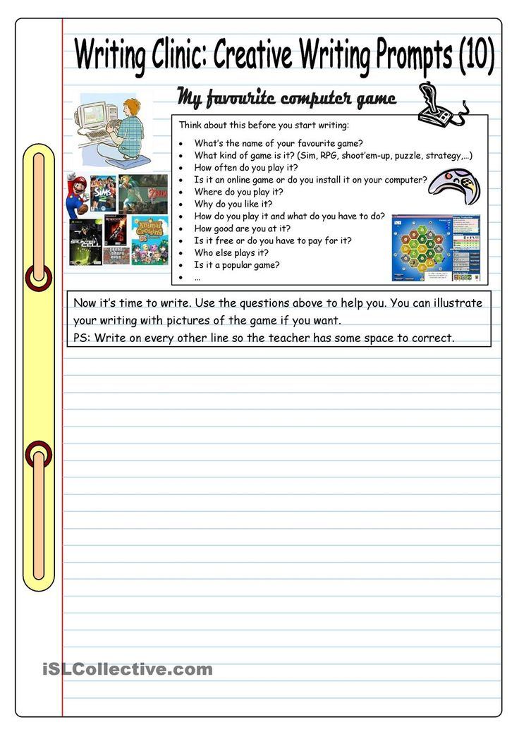 creative writing worksheets 2010-9-27  creative writing challenge workbook julie duffy storyadayorg  the storyadayorg creative challenge workbook julie duffy 2 | p a g e enjoying this workbook read.