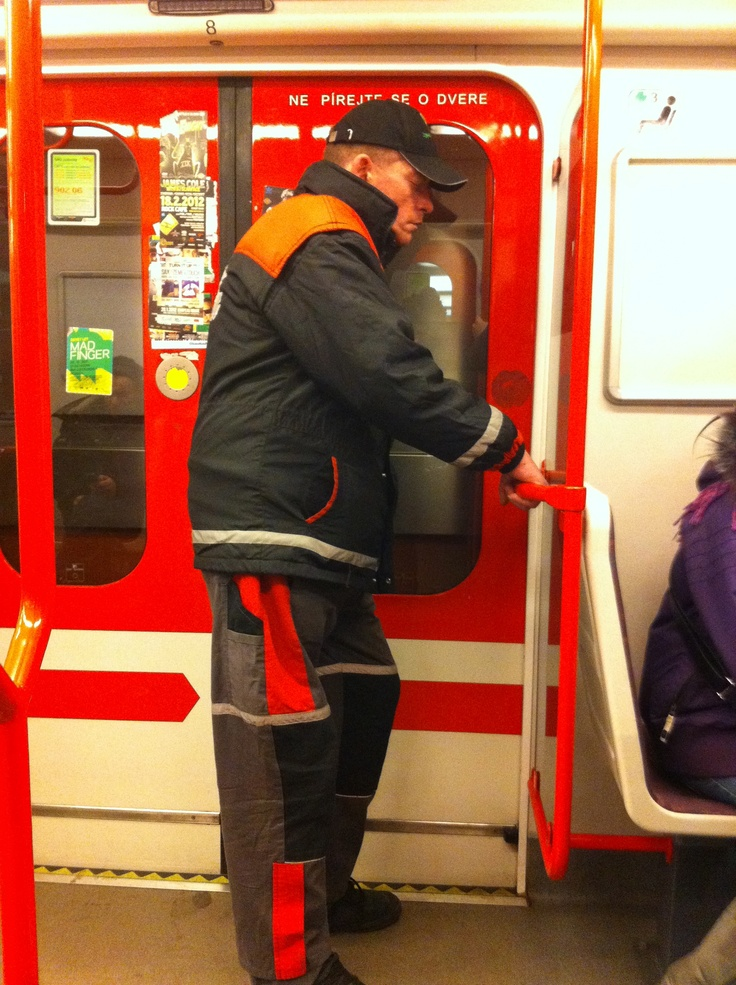 metro, prague - holding for life