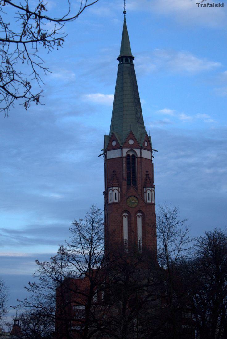 Zdjęcie wykonane w Sopocie .Wieża kościelna . #Photography #ILovePhoto