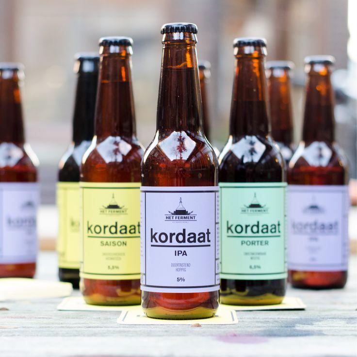 Onze eigen #bier in #huisstijl ter ere van ons 1-jarig bestaan. #craftbeer #designbeer #label #beerlabel