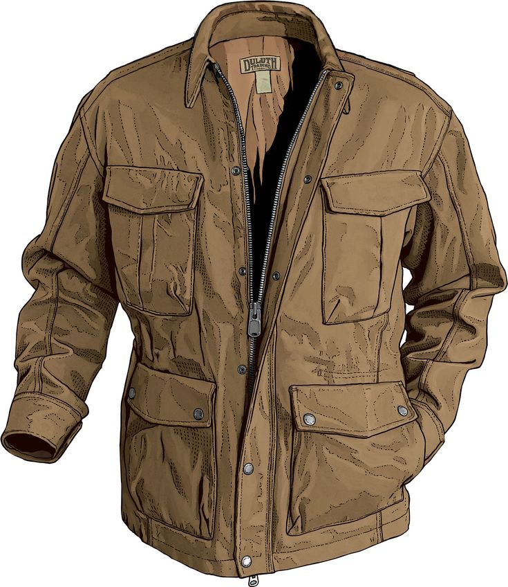 A refined version of the army field coat created during World War II, made of Fire Hose canvas only from Duluth Trading Company.