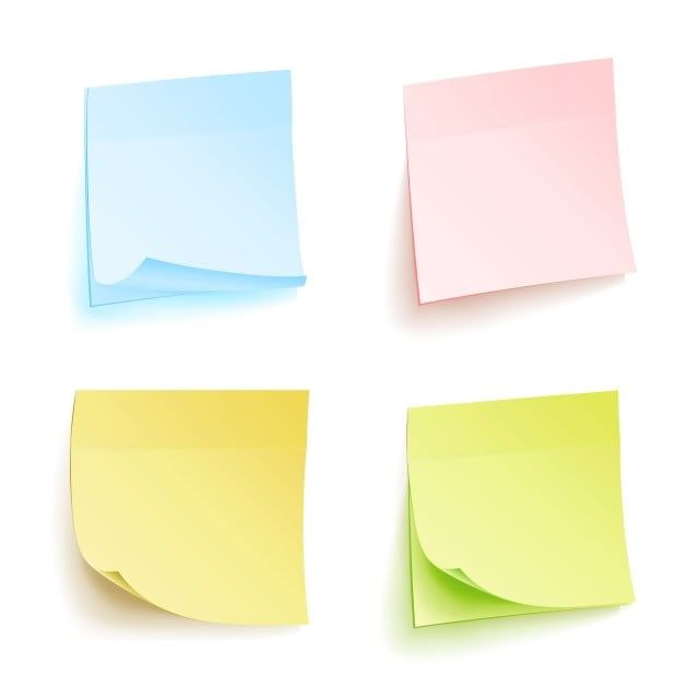 Paper Notes Isolated Vector Set Sticky Note Paper For Noticeboard With Curled Corners Illustration Colored Sticker Bank With Curl Corner Paper Clipart Adhesiv Coloring Stickers Note Paper Paper Illustration
