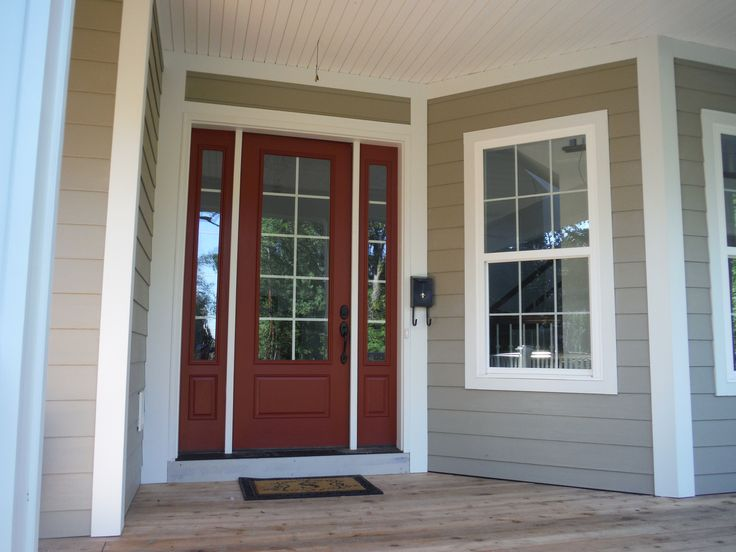 James Hardie Arctic White Trim And New Door Exterior