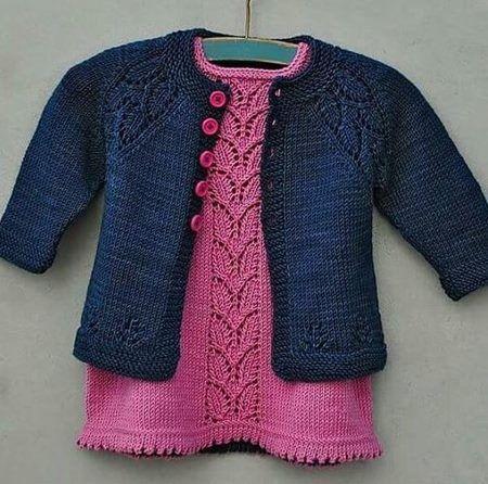 orgu-lacivert-hirkali-bebek-elbise-takimi – Nazarca.com