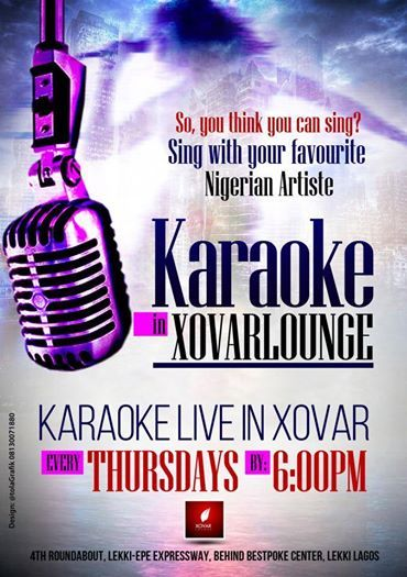 KARAOKE Thursdays at Xovar Lounge from 7-11pm with delectable Gloria as hostess.