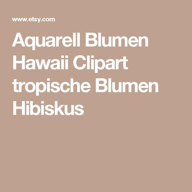 Aquarell Blumen Hawaii Clipart tropische Blumen Hibiskus
