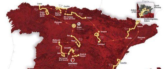 Recorrido Vuelta a España 2015