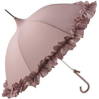 Lavender umbrella with ruffle by Lisbeth Dahl Copenhagen Srping/Summer 13.#LisbethDahlCph #Lavender #Umbrella #Wedding #Romantic #fashion