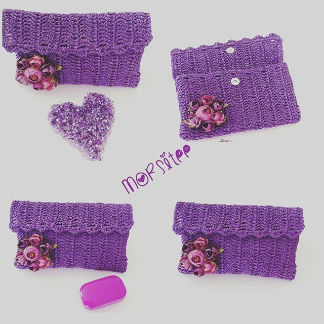 💜💜💜💜💜💜💜💜💜💜 Bu gün günlerden 💜mor💜sevgili arkadaşımız @serap_ile_elsanatlari bugünün rengini mor ilan etmiş bir morsever olarak bende katılıyorum  #benimmorrengim#  #hasırçanta#elişi elemeği#knittinglove#knitting#instaknit#çiçek#flowers#handmade#hanmadewithlove#uncinetto#kroşe#hasırip#örgü#örgüaşkı#moraşkı#morsevenler#love#örgümüseviyorum#benimmorrengim#tığişi#instagram#