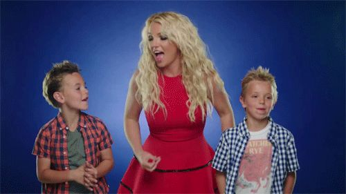 Pin for Later: Decades of Die-Hard Britney Fandom — in GIFs We squeal over her adorable sons and feel a teensy bit jealous that they've probably inherited her moves.
