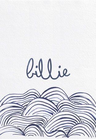 Geboortekaartjes / origamianimal / vosje / cardboard / handmade / design / StudioNOUK / geboortekaartje vanaf € 75,- / lief / leuk / stoer / origineel / modern / hip / kaartje op verzoek / fashion / trends / baby / zwanger / pregnant / illustratie / handdrawn / inkt / ecoline/ kan in alle kleuren! BILLIE / waves / oceaan / freedom