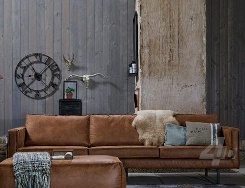 Vintage Meubel - Sofa Rodeo 3-zits Cognac - Zitbanken - Zitmeubilair