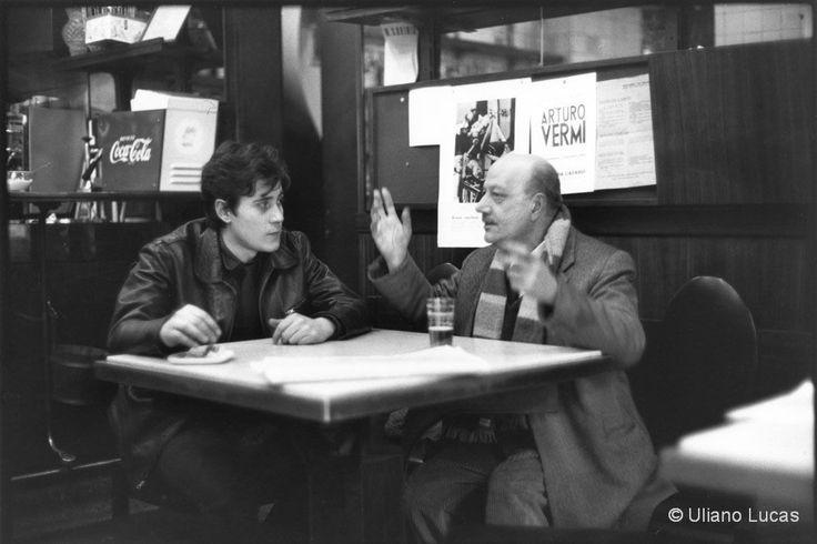 M<3 I pittori Valentino Dionisi e Edoardo Giordano al bar Jamaica, via Brera | Milano 1963 (photo © Uliano Lucas)