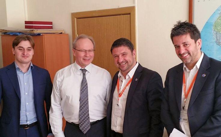 Σημαντική συνάντηση στη Μόσχα,  στο Ρωσικό Ομοσπονδιακό Υπουργείο Πολιτισμού με τον Υφυπουργό Τουρισμού.αρμόδιο για θέματα Διεθνών Συνεργασιών Valery Korovkin και τον συνεργάτη του αρμόδιο για θέματα σχέσεων με την Ελλάδα Georgi Amorobian