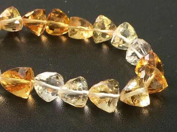 Citrine Shaded Beads Rare Citrine Faceted by gemsforjewels on Etsy