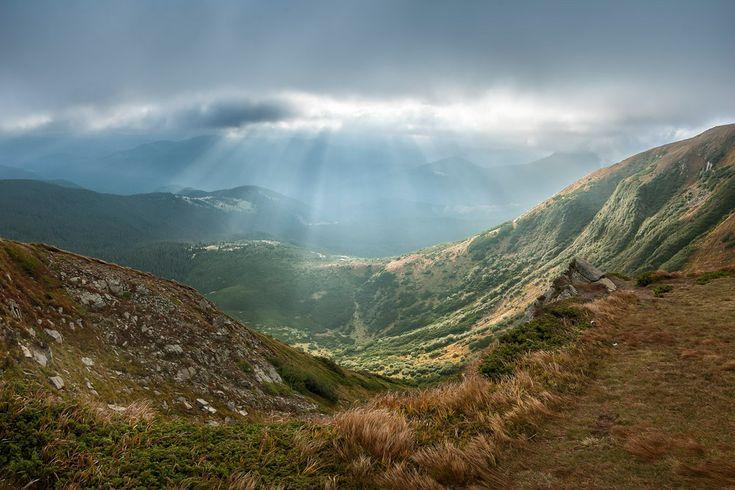"""фото """"На склонах Говерлы"""",Говерла Карпаты горы облака осень место съемки:Украина"""