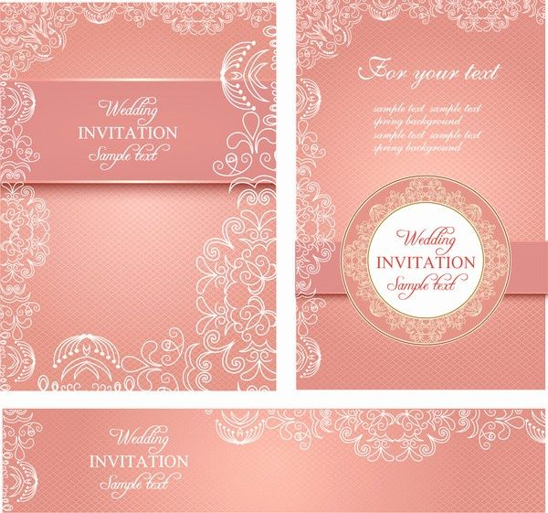 Invitation Cards Template Free Download Lovely Editable Wedding Invitations Free Vector 3 767 Personalized Greeting Cards Printable Cards Invitations