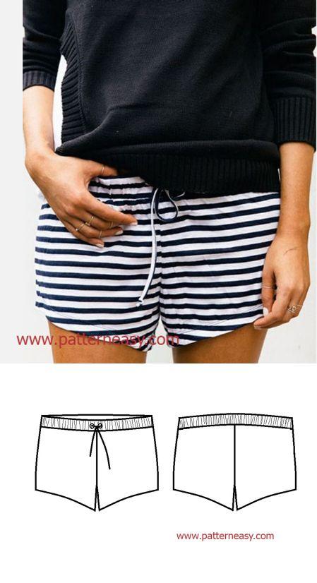 Cómo coser pantalones cortos   Modelos en línea y clases de modelado