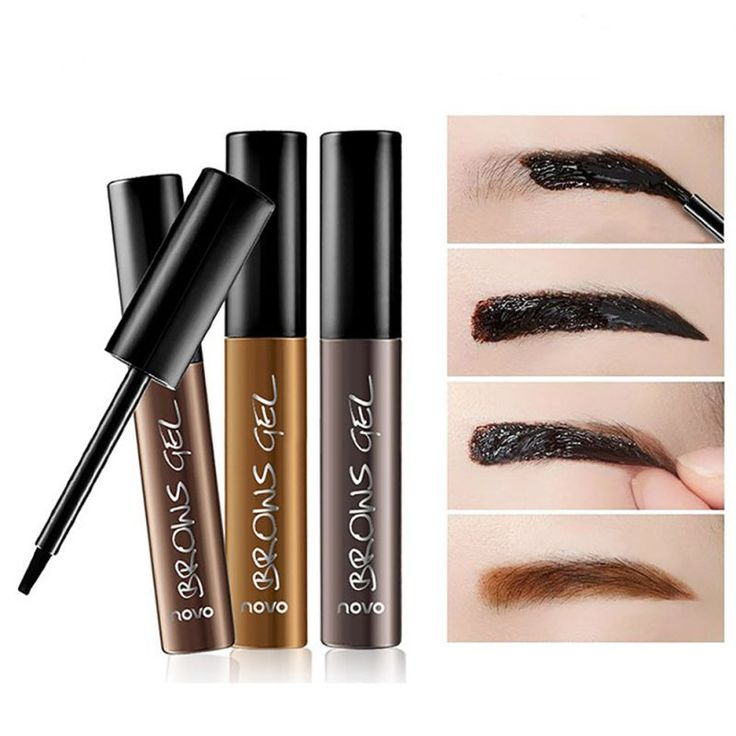 NOVO Eye Brow Tattoo Tint Waterproof Long-lasting Peel Off Dye Eyebrow Gel Cream Mascara Make Up Pen Korean Cosmetics