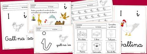 Fichas para imprimir y trabajar con la letra I