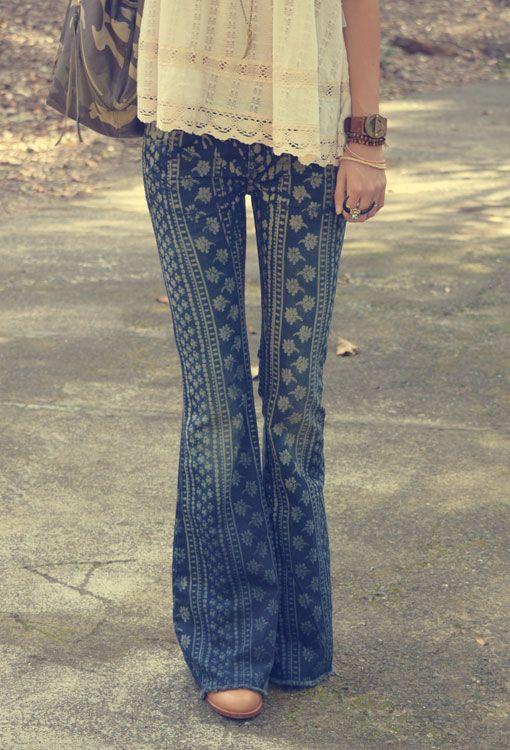 Stripe Bali Flare Pants | Free People www.thefreedomstate.com.au.. DIY Inspiration