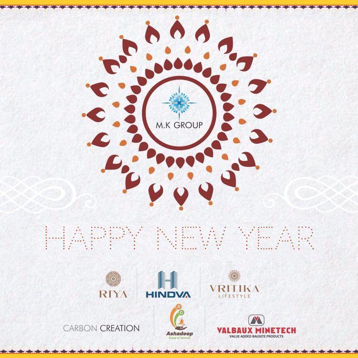 Happy New Year  #MK #Group #NewYear #Greeting #Riya #Hindva #Vritika #CarbonCreation #Ashadeep #ValBaux