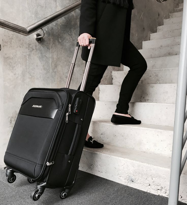 Rock Black Carry On Suitcase by Jett Black - #blackbag #vacation